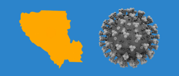 Image - illustration of Santa Clara County and COVID