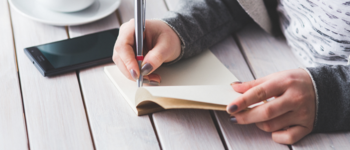 Image - woman writing in book