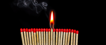 Image - matches against a black background