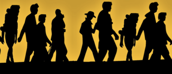 Image - silhouettes of refugees