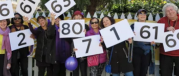 Image - people holding numbers