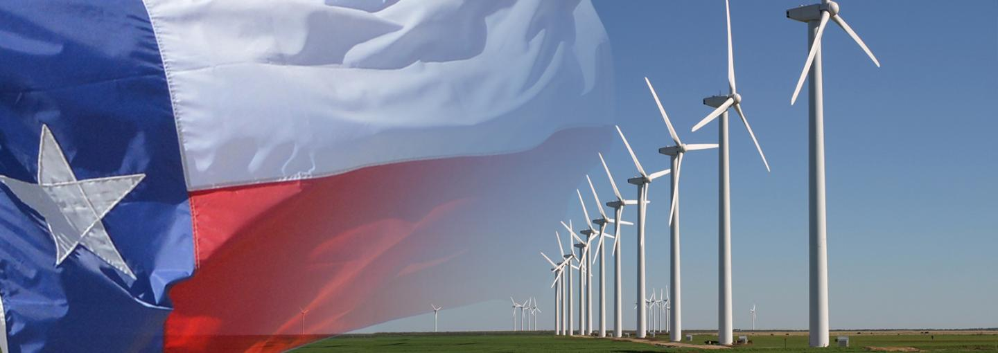 Image - Texas flag and wind power