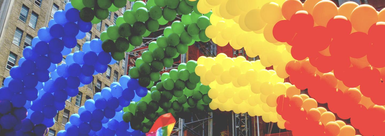 Image - rainbow balloons