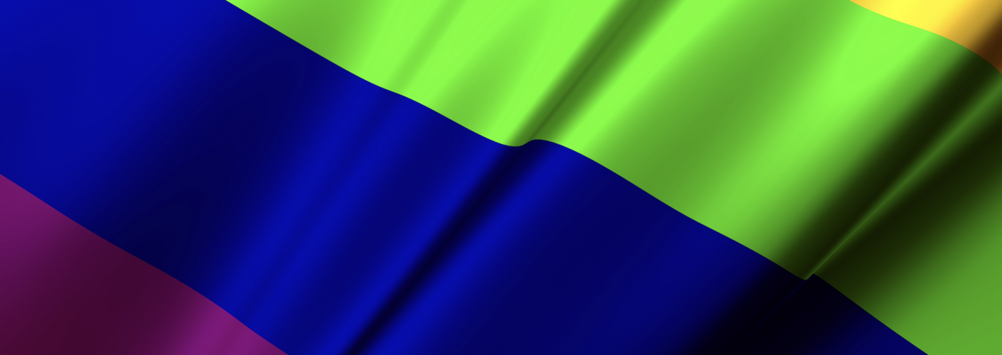 Image - detail of rainbow flag