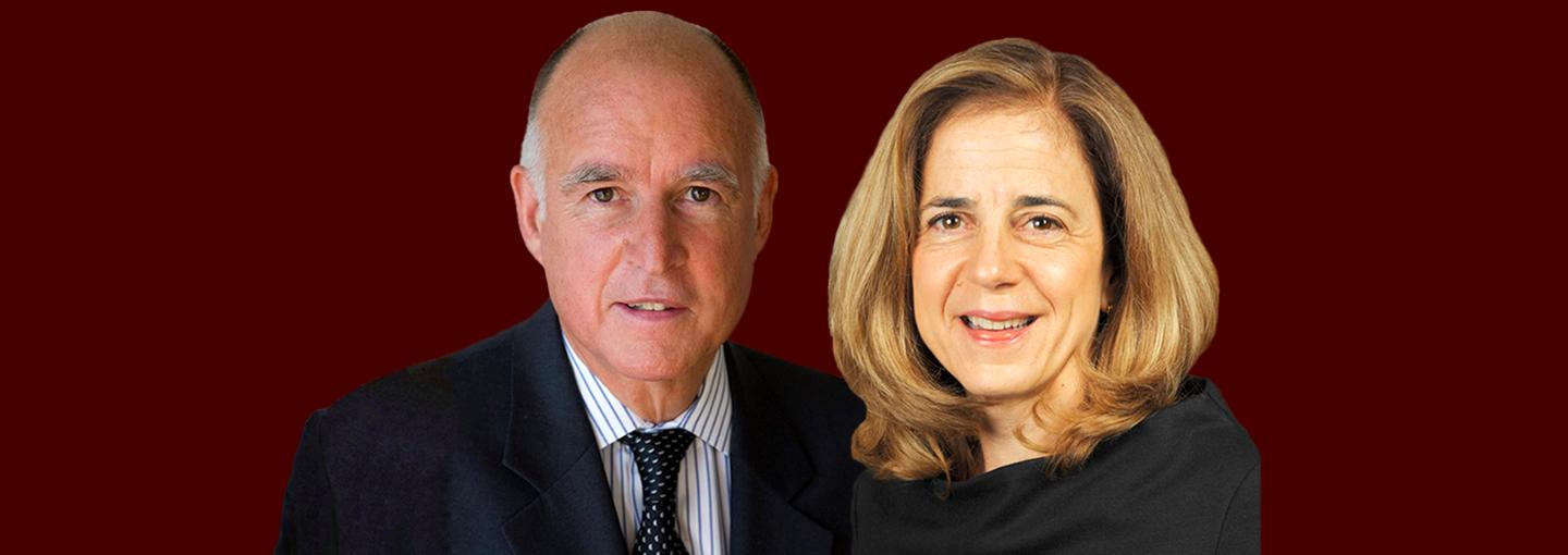 Image - Governor Jerry Brown and Anne Gust Brown
