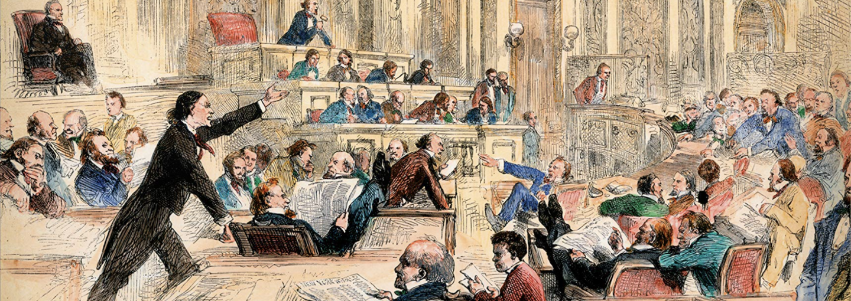 Image - illustration of members of congress debating