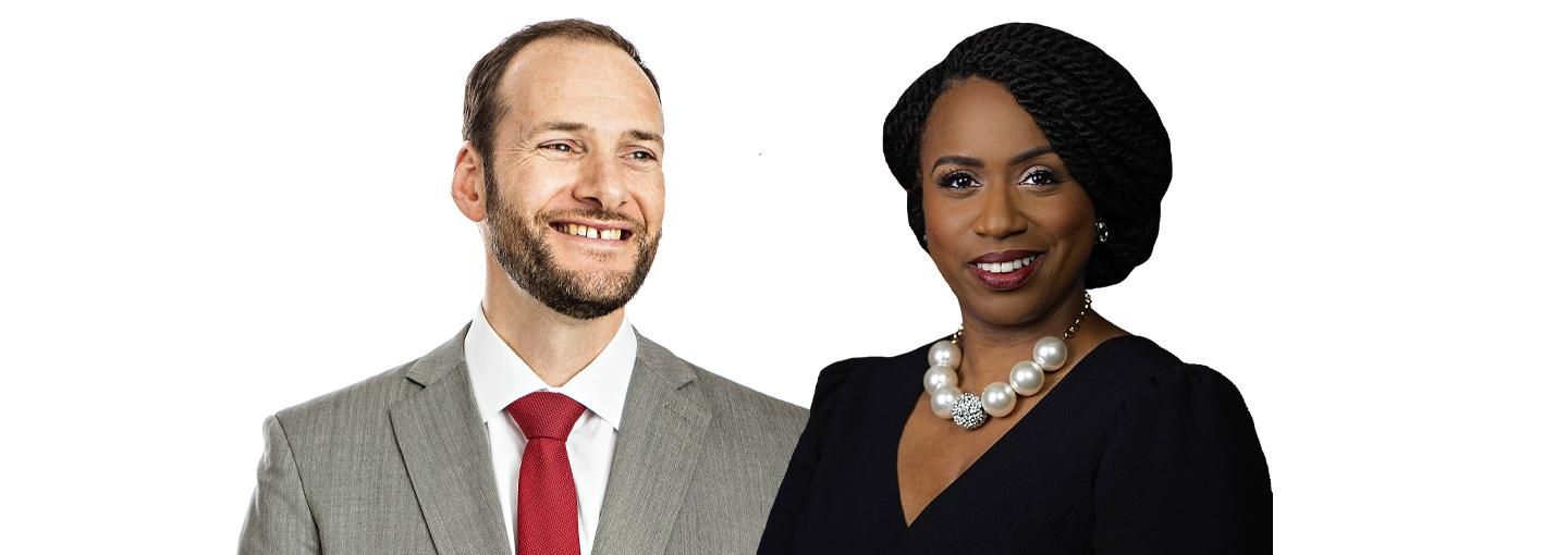 Image - Chesa Boudin and Ayanna Pressley