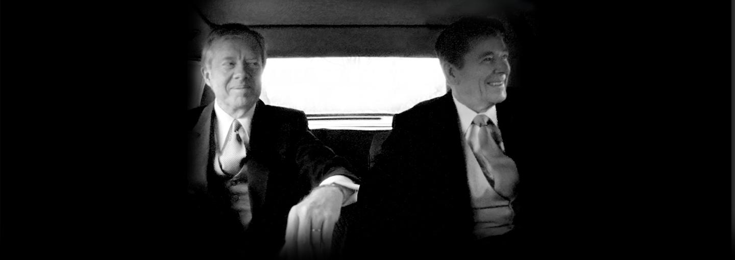 Image - Jimmy Carter and Ronald Reagan