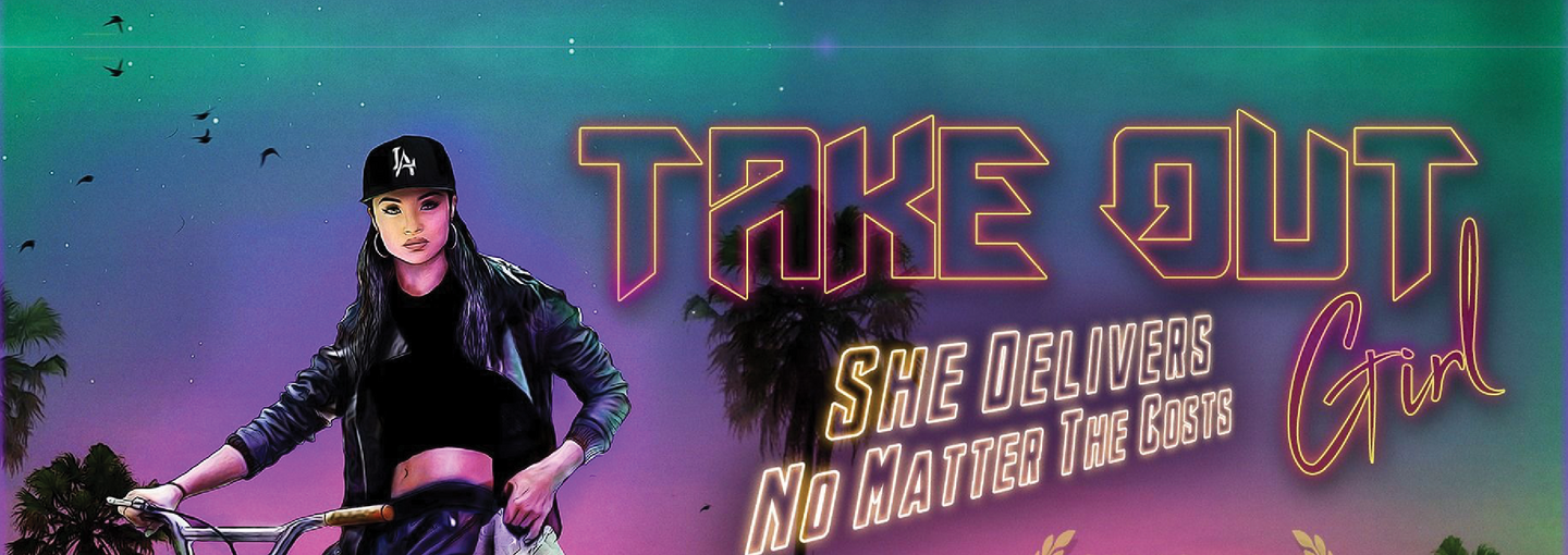 Image - detail from Take Out Girl poster