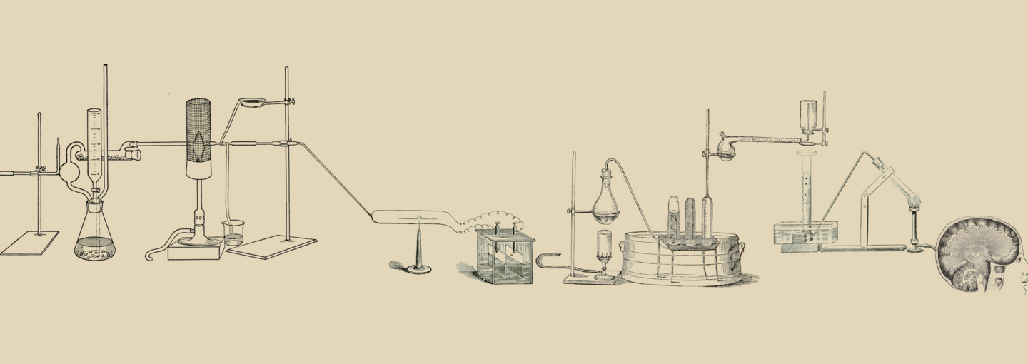 Image - drawing of chemistry equipment
