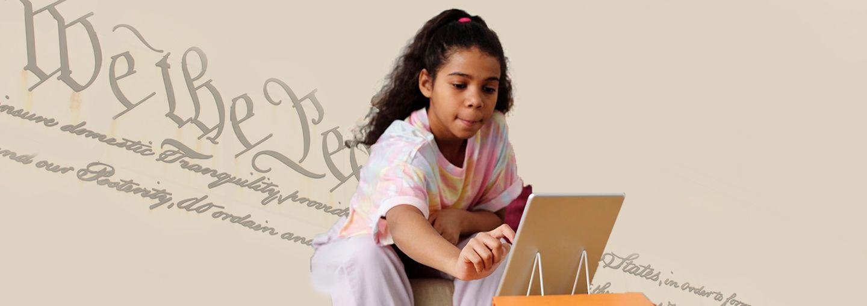 Image - girl doing schoolwork
