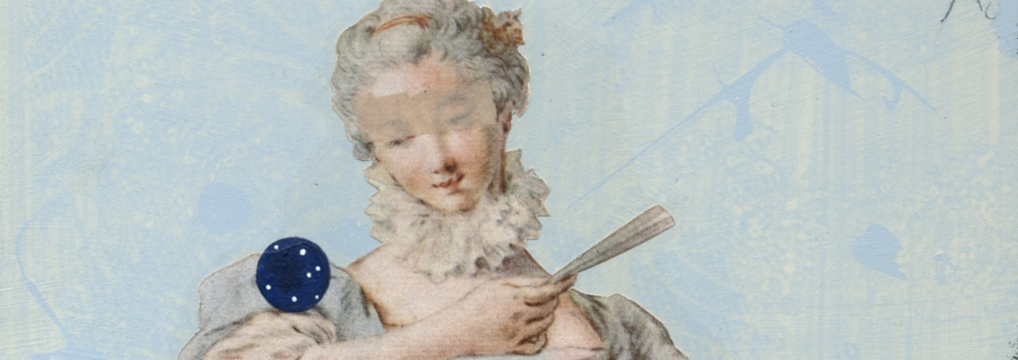 """Image - detail from """"Storytellers"""" exhibition poster; woman"""