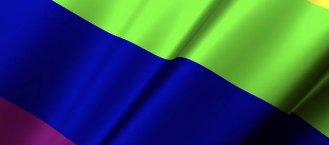 Image - detail of rainbow flag
