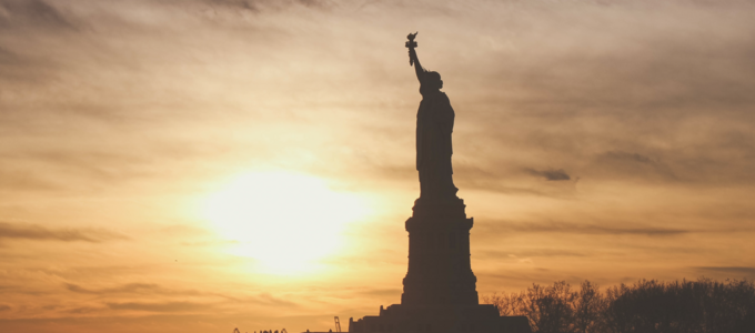 Image - the Statue of LIberty at sunset