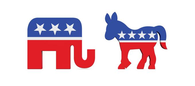 Image - GOP and Democratic party symbols