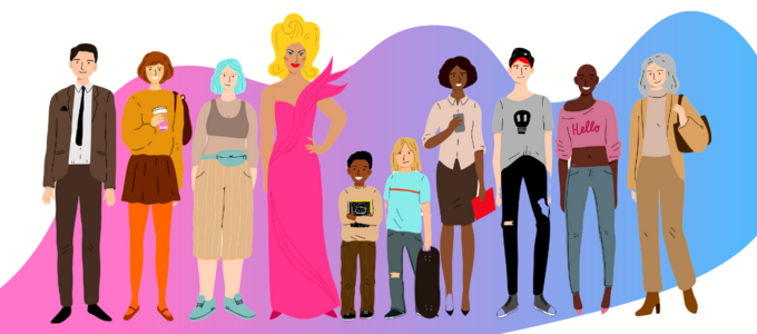 Image - illustration of various types of people