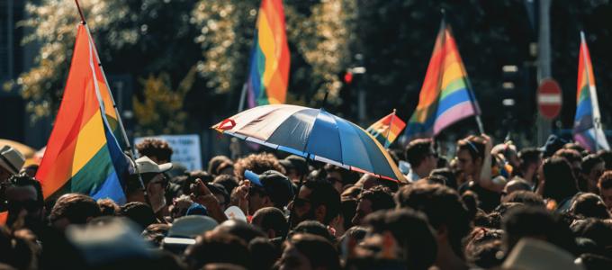 Image - people attending Pride parade