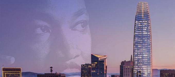Image - MLK and San Francisco skyline
