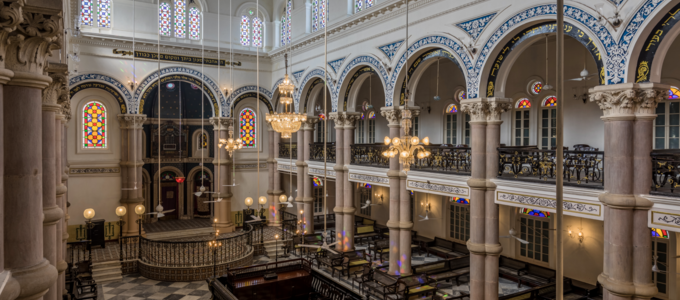 Image - interior of Magen David Synagogue in Kolkata, India