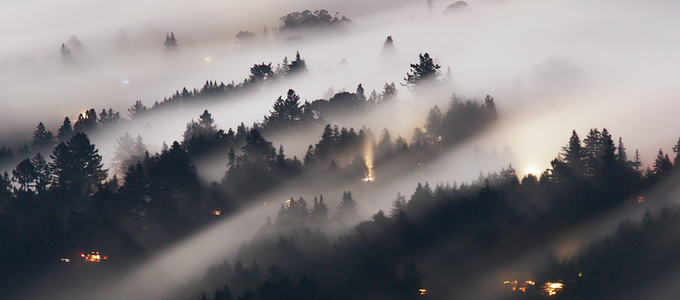 Image - fog on mountainside