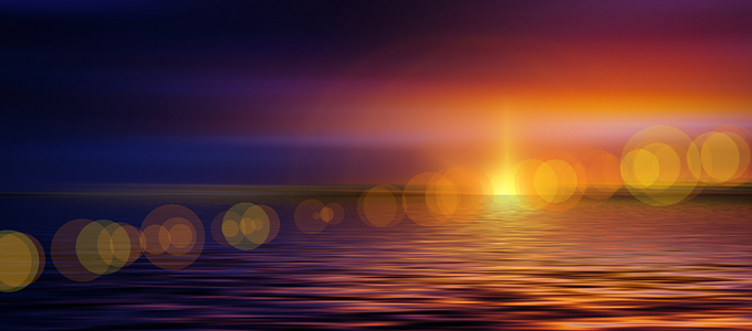 Image - sun over water