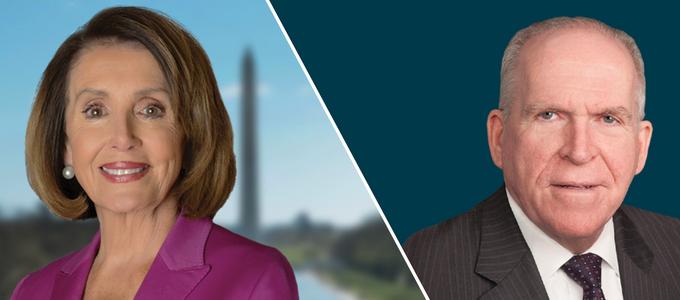 Image - Nancy Pelosi and John Brennan