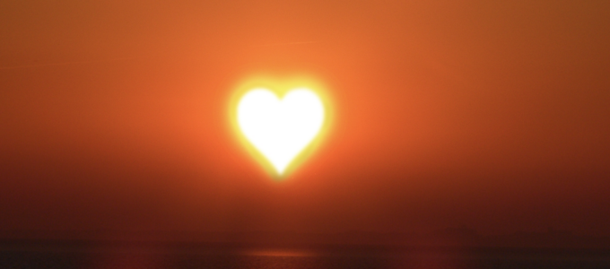 Image - heart-shaped sun
