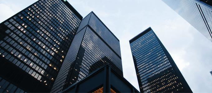 Image - modern black skyscrapers