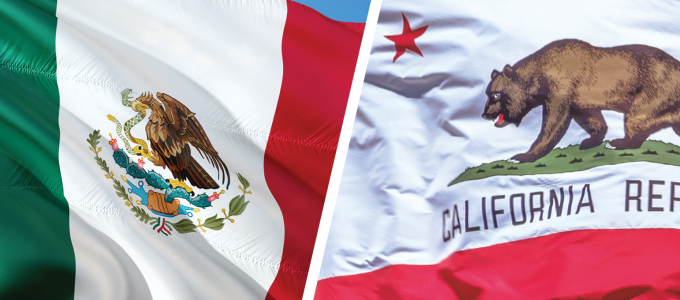 Image - Mexico and California flags