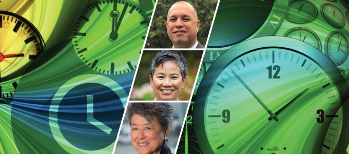 Image - collection of clocks plus speaker faces