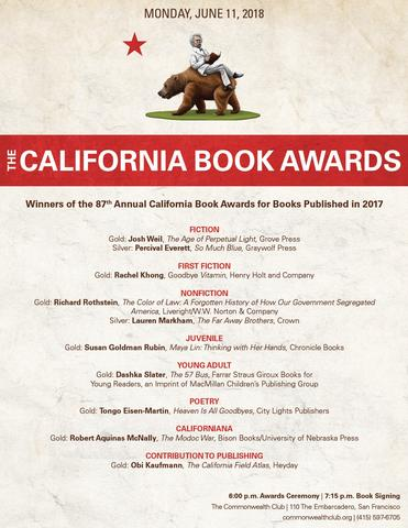 2018 California Book Awards Winners