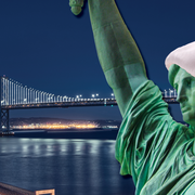 Image - Statue of Liberty with Santa Hat