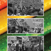 Image - rainbow colors and LGBT protestors