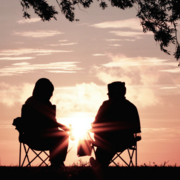 Image - two people at sunrise