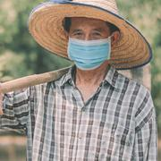 Image - farmer wearing mask
