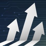 Image - illustration of three upward-pointing arrows