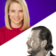 Image - Marissa Mayer in conversation with Marc Benioff - A Visionary Award Even